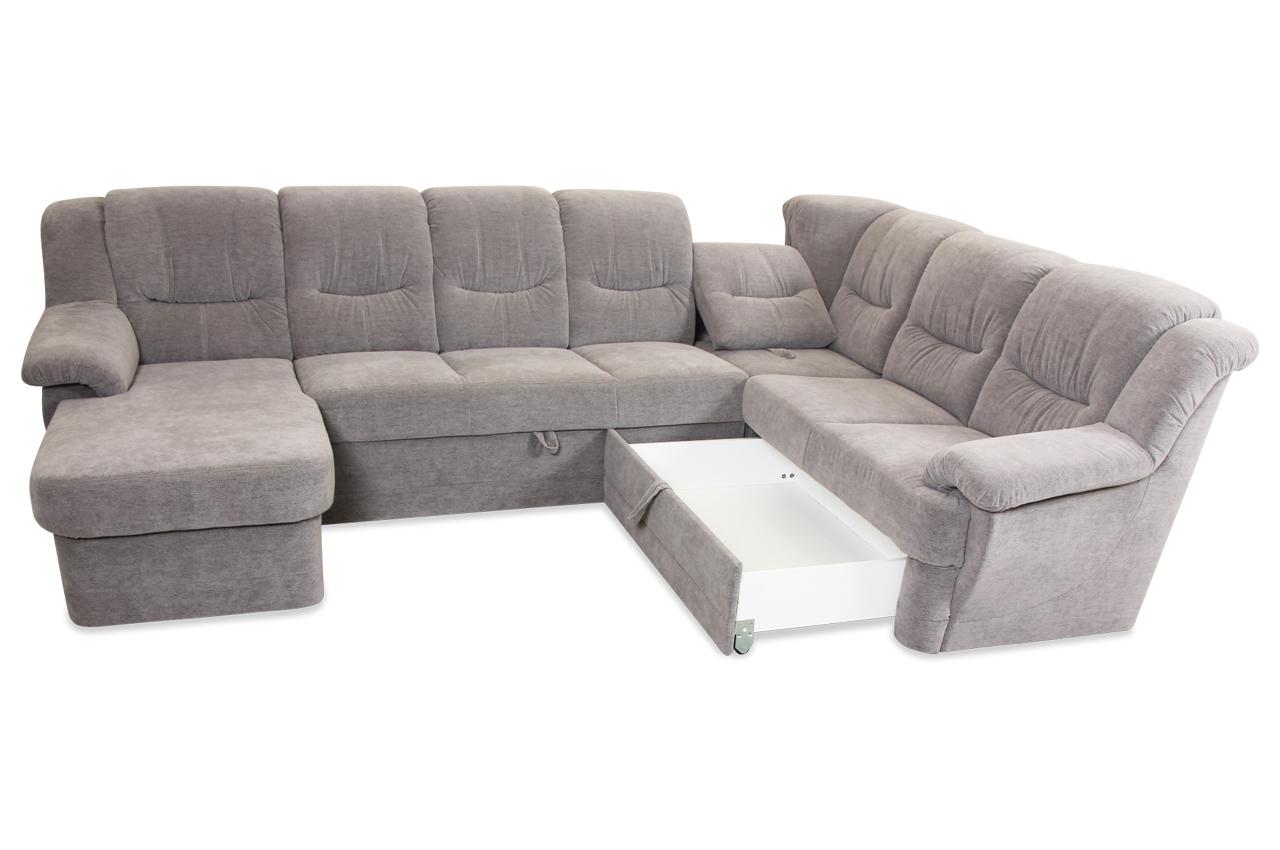 wohnlandschaft orion mit relax und schlaffunktion grau sofas zum halben preis. Black Bedroom Furniture Sets. Home Design Ideas