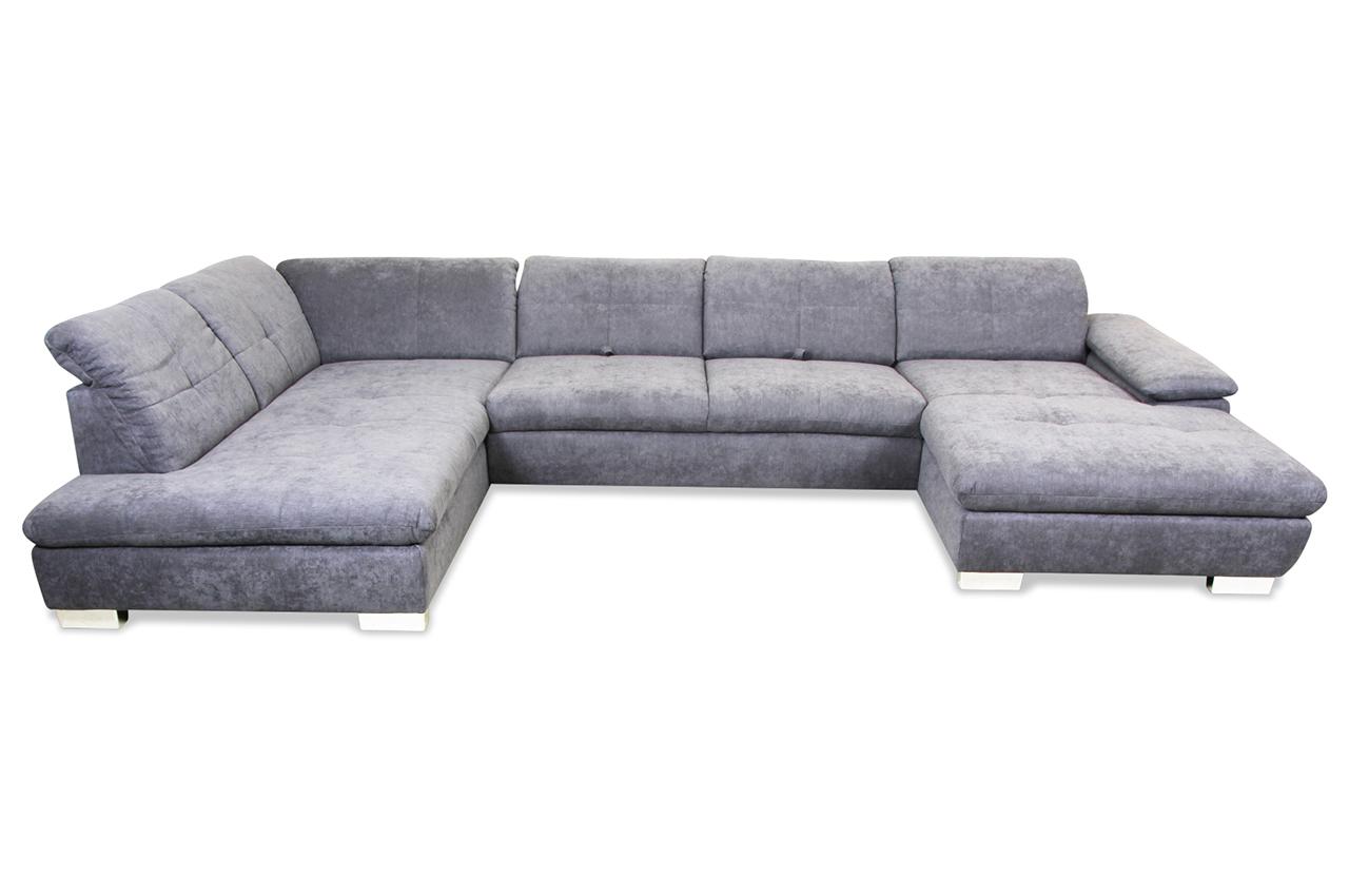 Ada alina wohnlandschaft 7520 creme sofa couch ecksofa for Wohnlandschaft creme
