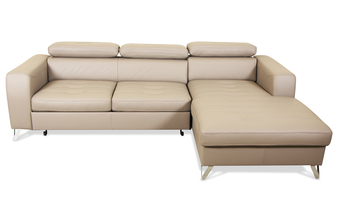 Aek Leder Ecksofa Rio Mit Schlaffunktion Braun Echt Leder Sofa Couch Ebay