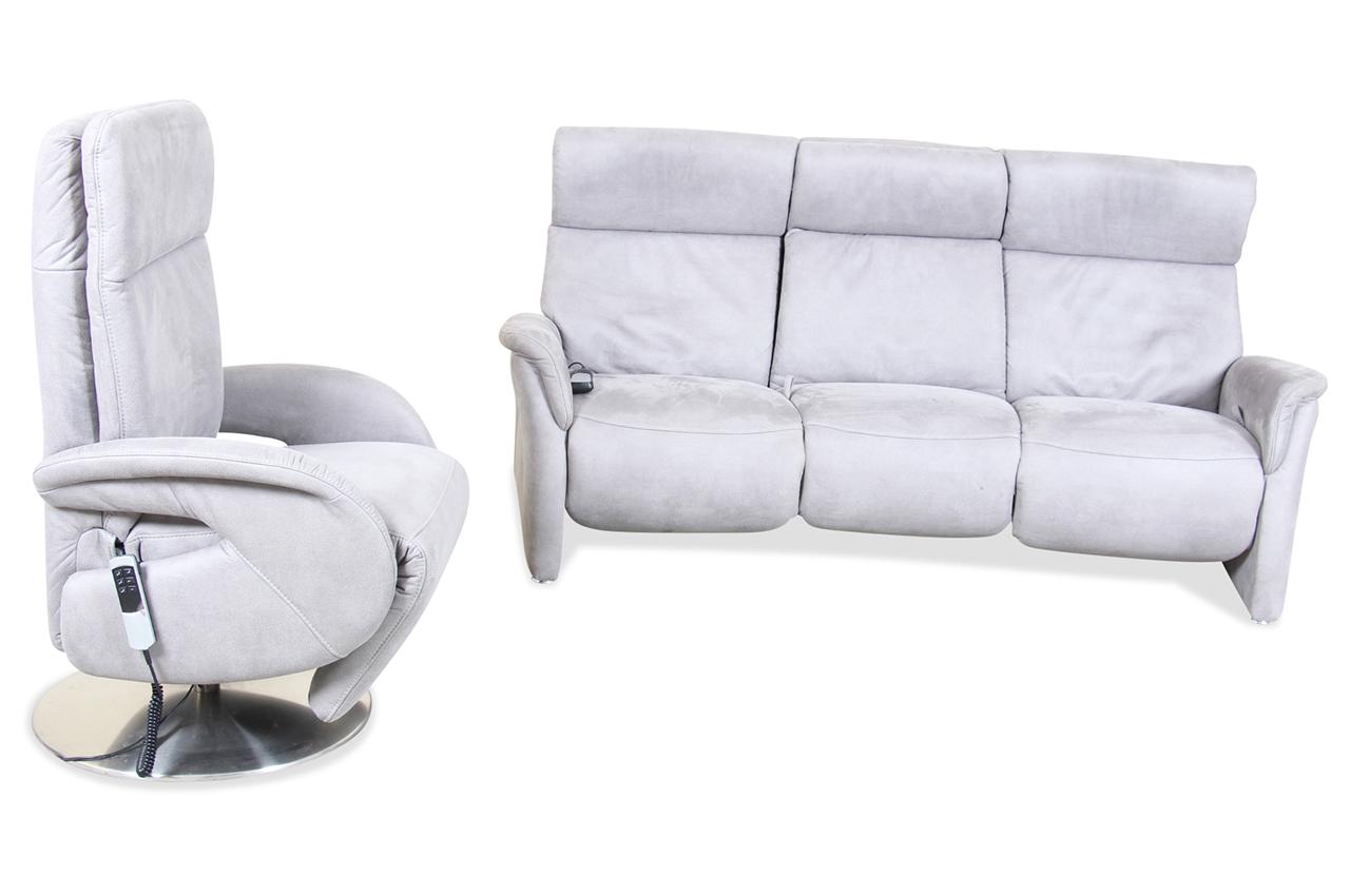 garnitur mit sitzverstellung grau sofas zum halben preis. Black Bedroom Furniture Sets. Home Design Ideas