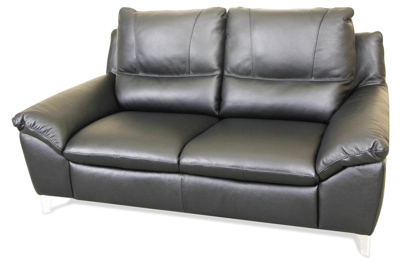 editions leder 2er sofa u200 schwarz sofas zum halben. Black Bedroom Furniture Sets. Home Design Ideas