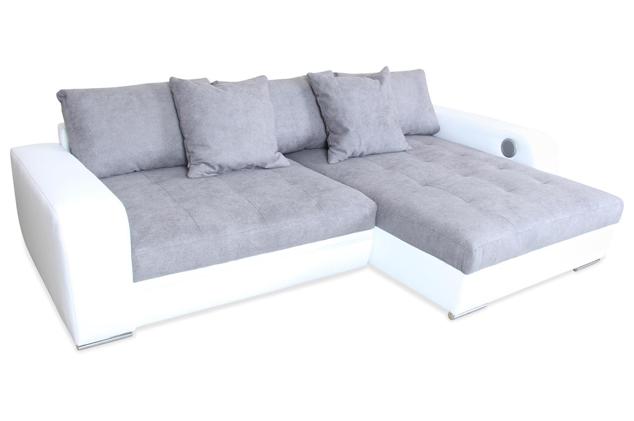 ecksofa xl viper mit led und sound und schlaffunktion. Black Bedroom Furniture Sets. Home Design Ideas