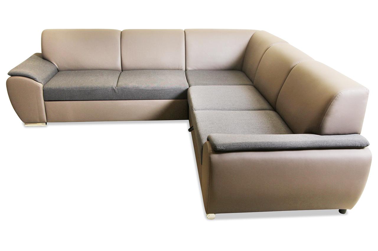 Blackredwhite Rundecke Antara Mit Schlaffunktion Braun Sofa Couch Ecksofa Ebay