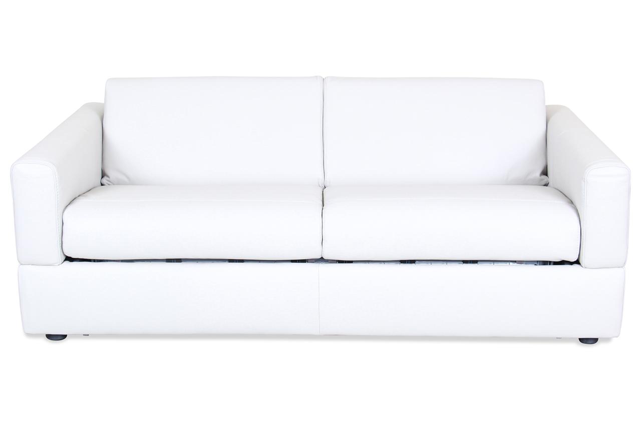 Editions leder 3er sofa u101 mit schlaffunktion weiss sofa couch ecksofa ebay 3er sofa mit schlaffunktion