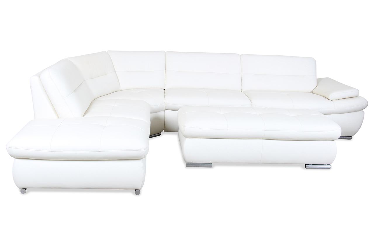 leder rundecke creme mit federkern sofas zum halben preis. Black Bedroom Furniture Sets. Home Design Ideas