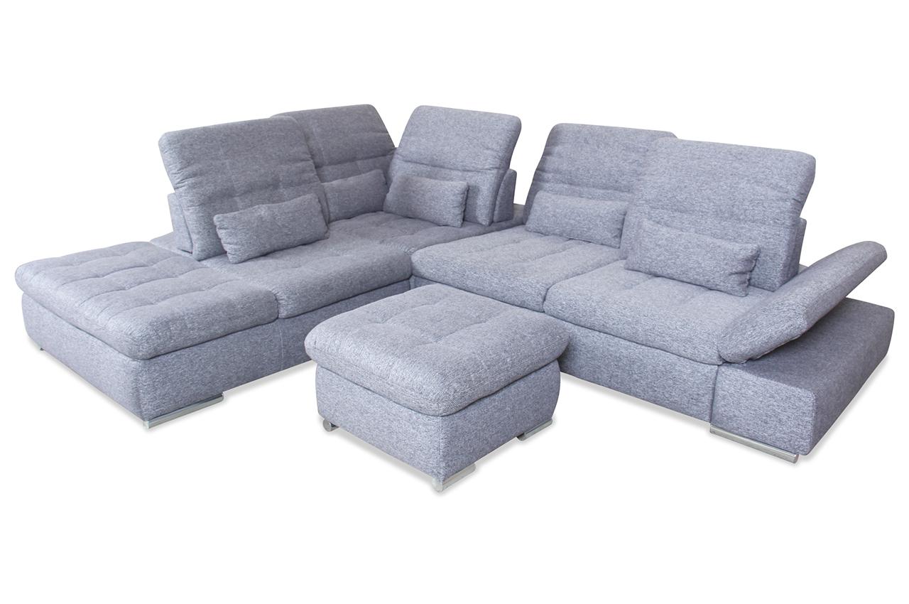 rundecke grau mit federkern sofa couch ecksofa ebay. Black Bedroom Furniture Sets. Home Design Ideas