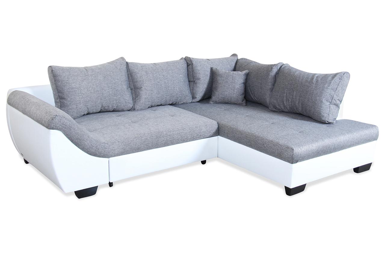 ecksofa xl nizza mit schlaffunktion grau mit federkern sofas zum halben preis. Black Bedroom Furniture Sets. Home Design Ideas