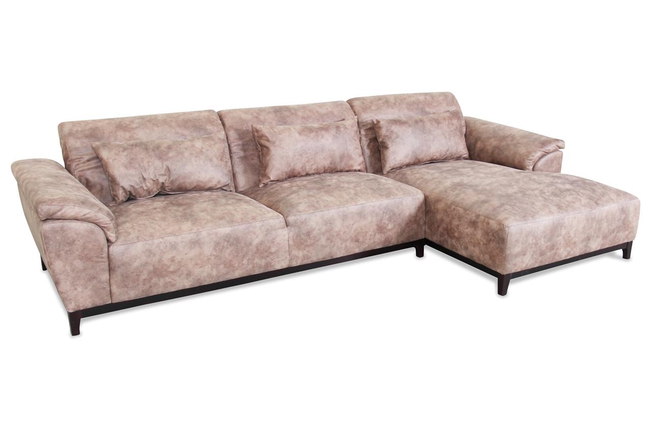 spin m bel ecksofa amarante braun mit federkern sofas zum halben preis. Black Bedroom Furniture Sets. Home Design Ideas