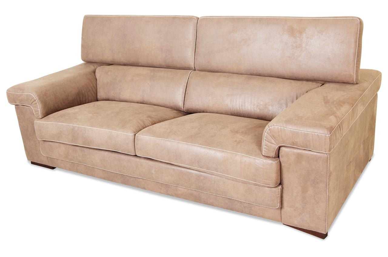 spin m bel 3er sofa ravenna braun sofas zum halben preis. Black Bedroom Furniture Sets. Home Design Ideas