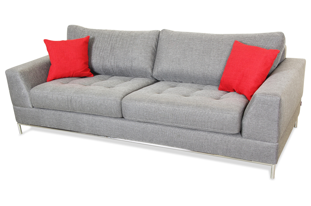 spin m bel 3er sofa garda grau sofa couch ecksofa ebay. Black Bedroom Furniture Sets. Home Design Ideas