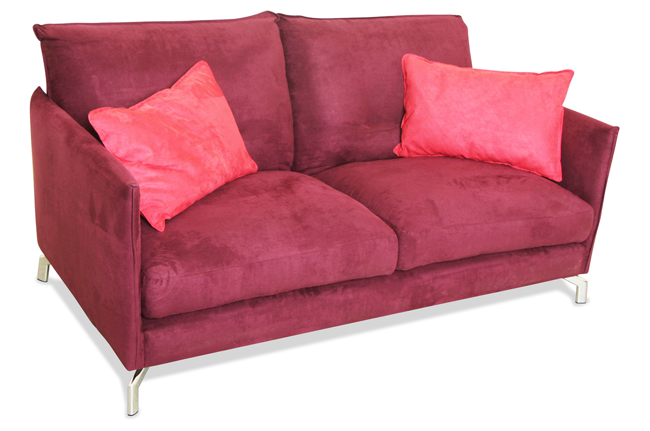furntrade 2er sofa versalle rot sofas zum halben preis. Black Bedroom Furniture Sets. Home Design Ideas