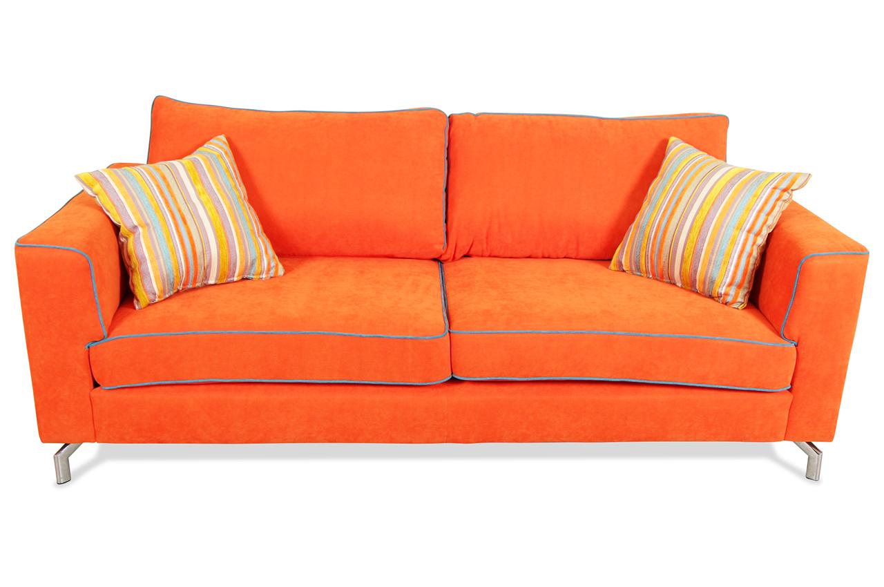 furntrade 2er sofa laval orange sofas zum halben preis. Black Bedroom Furniture Sets. Home Design Ideas