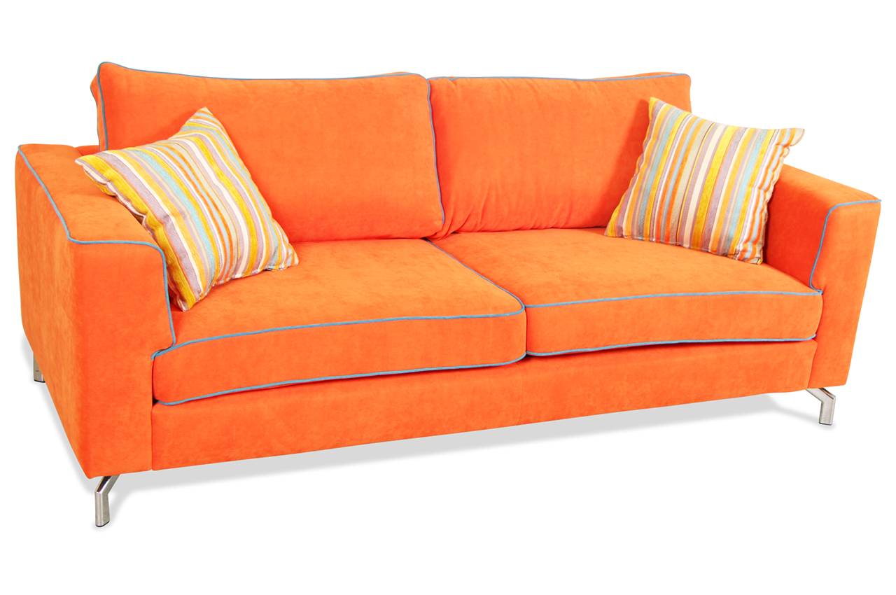 furntrade 2er sofa laval orange sofas zum halben preis. Black Bedroom Furniture Sets. Home Design Ideas