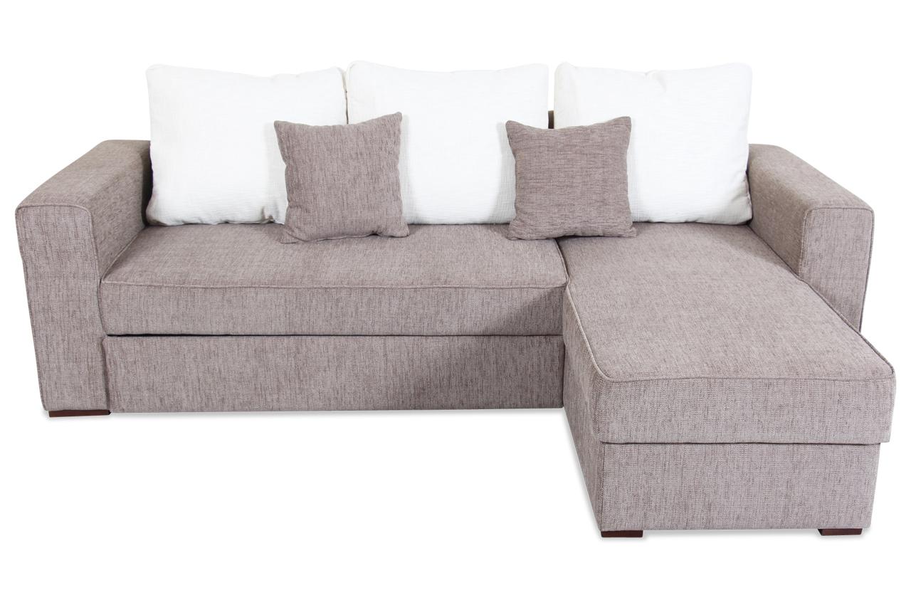 spin m bel ecksofa ancona mit schlaffunktion braun mit federkern sofa cou ebay. Black Bedroom Furniture Sets. Home Design Ideas