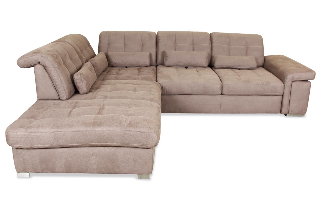 Rundecke Mit Relax Braun Sofa Couch Ecksofa Ebay