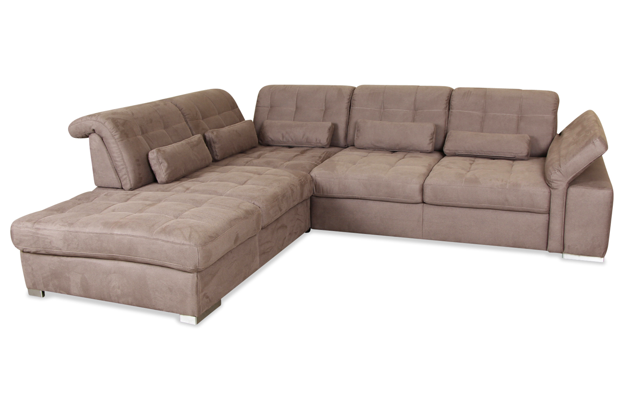 rundecke mit relax braun sofa couch ecksofa ebay. Black Bedroom Furniture Sets. Home Design Ideas