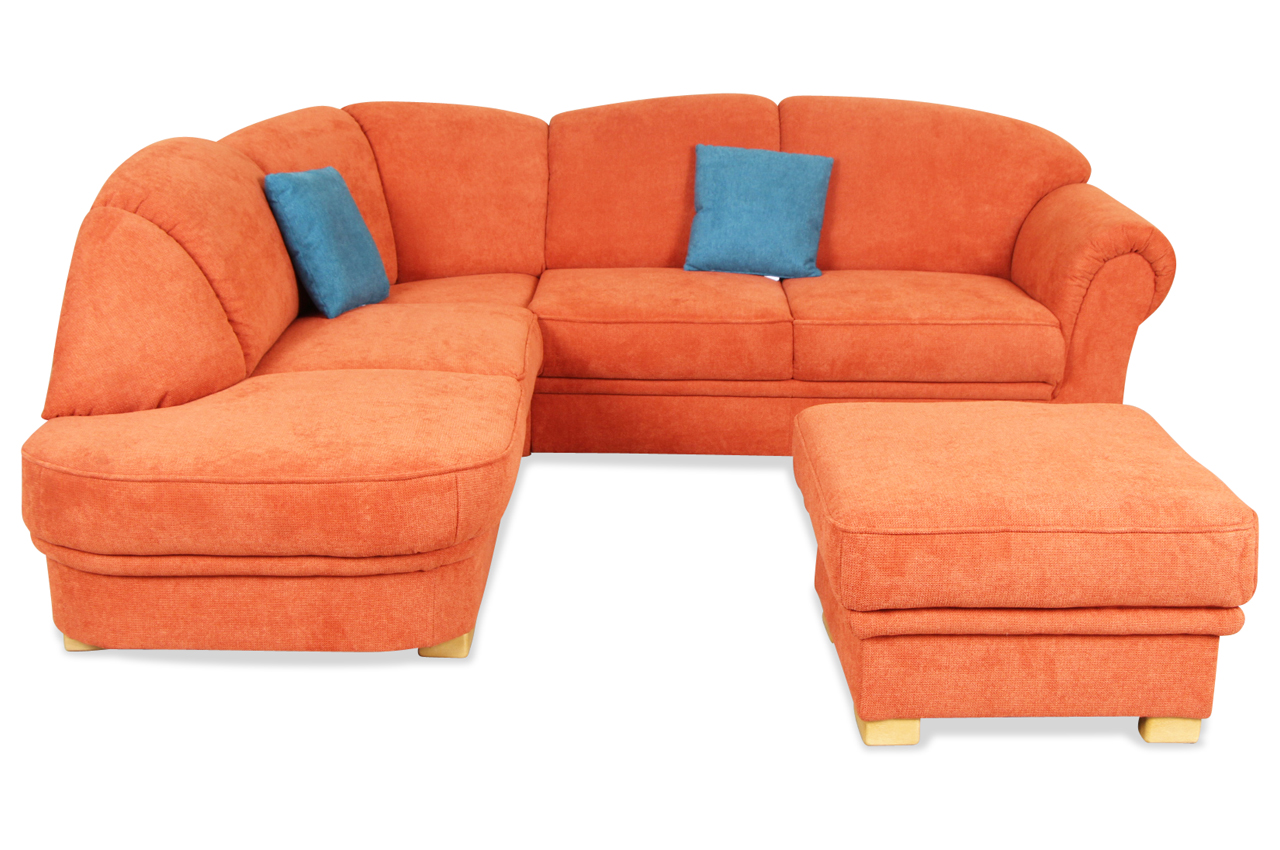 rundecke mit hocker orange sofas zum halben preis. Black Bedroom Furniture Sets. Home Design Ideas