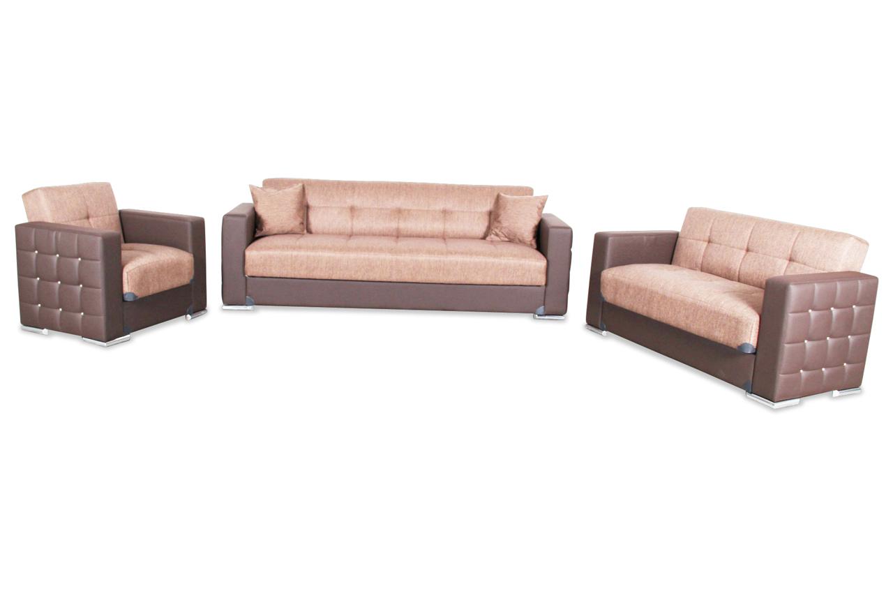 bader garnitur 3 2 1 borina mit relax und schlaffunktion braun sofas zum halben preis. Black Bedroom Furniture Sets. Home Design Ideas