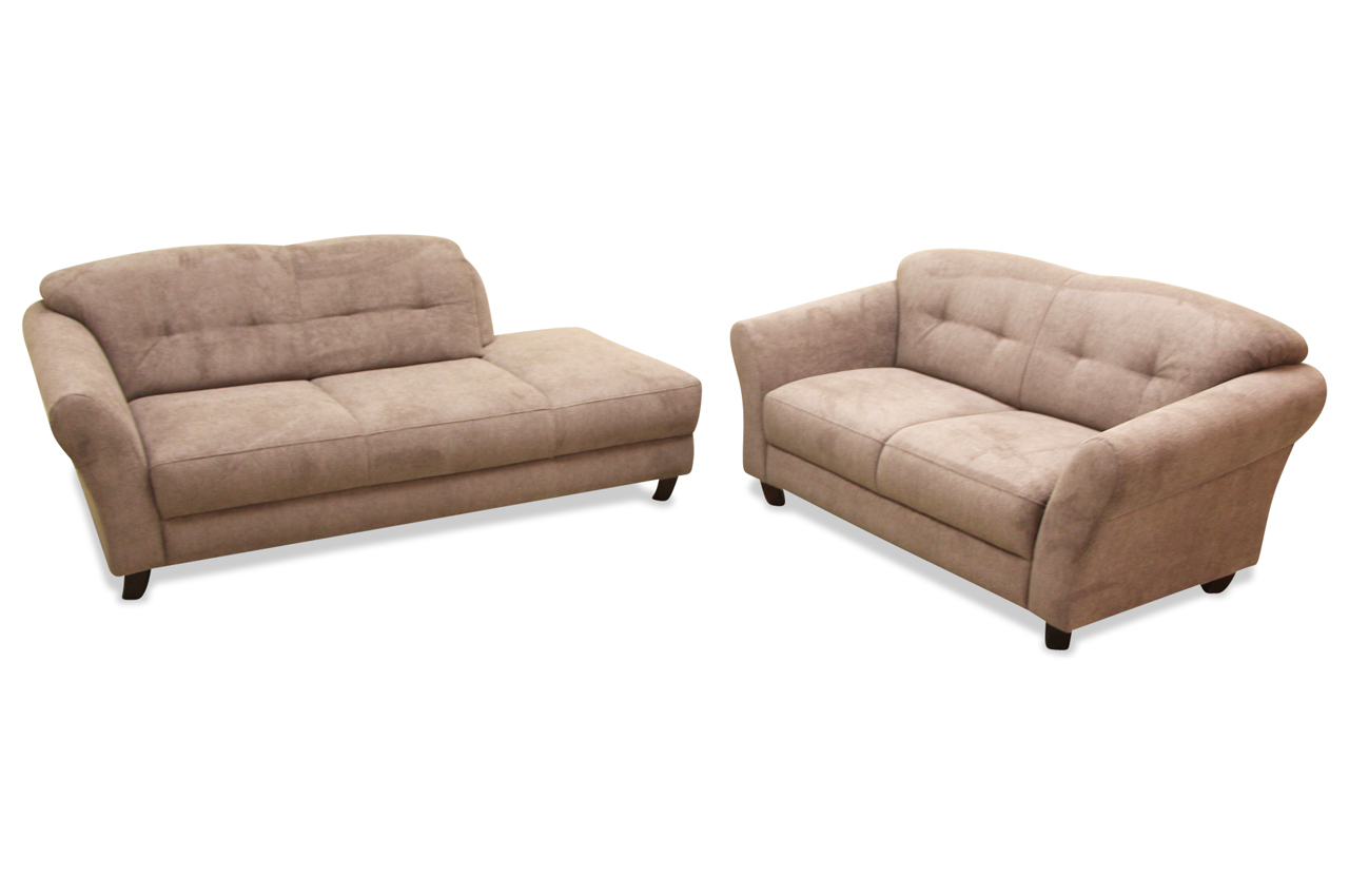 Garnitur 3 2 gotland braun sofa couch ecksofa ebay for Sofa garnitur