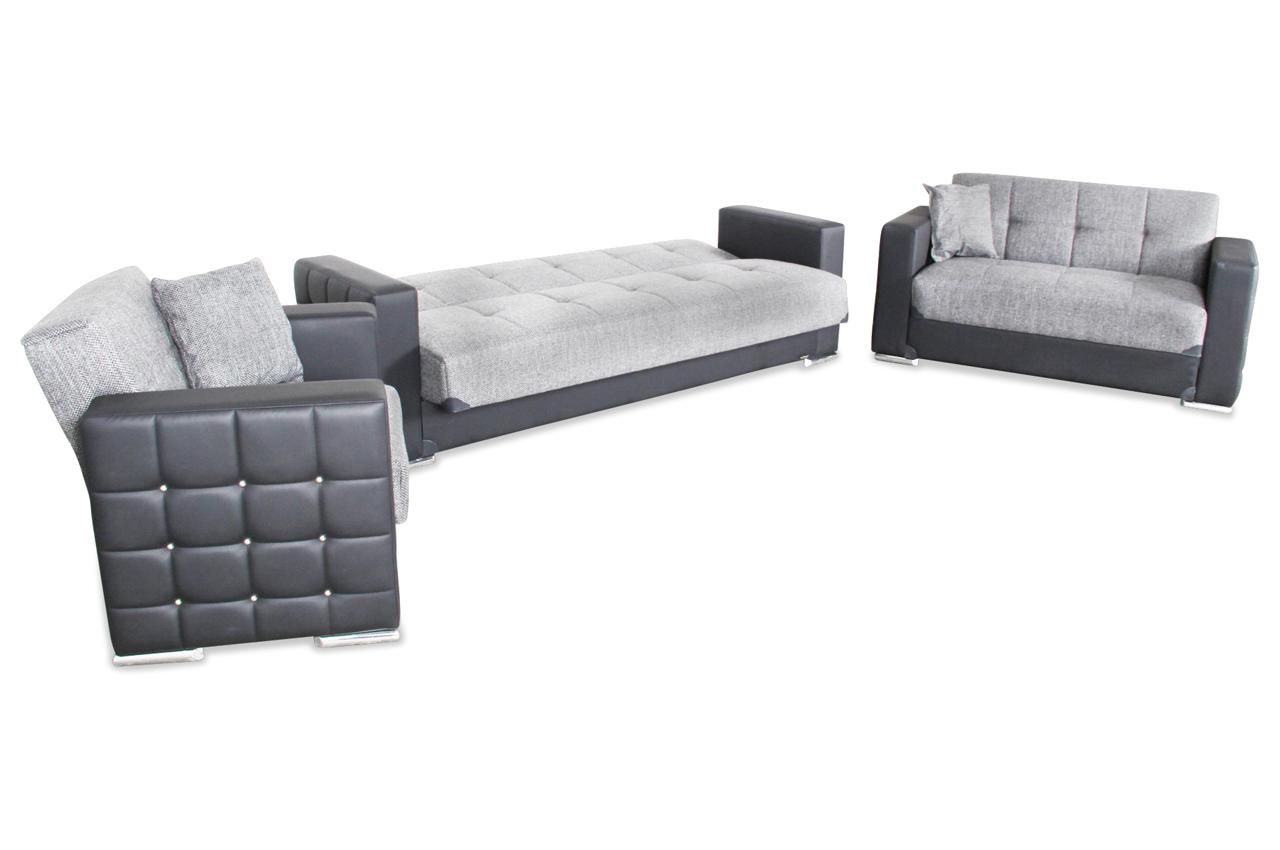 bader garnitur 3 2 1 borina mit relax und schlaffunktion schwarz sofas zum halben preis. Black Bedroom Furniture Sets. Home Design Ideas