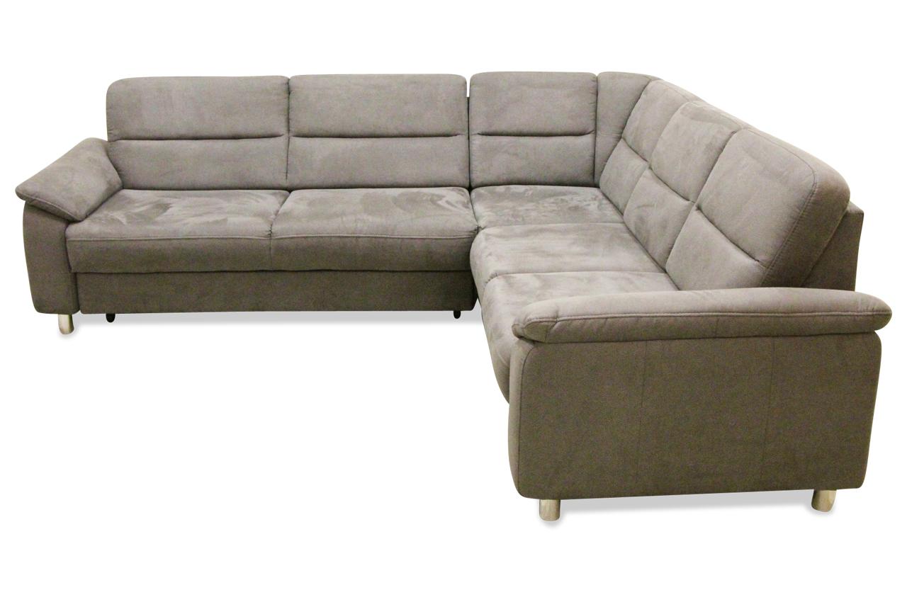 Rundecke Delano Mit Schlaffunktion Grau Sofa Couch Ecksofa Ebay