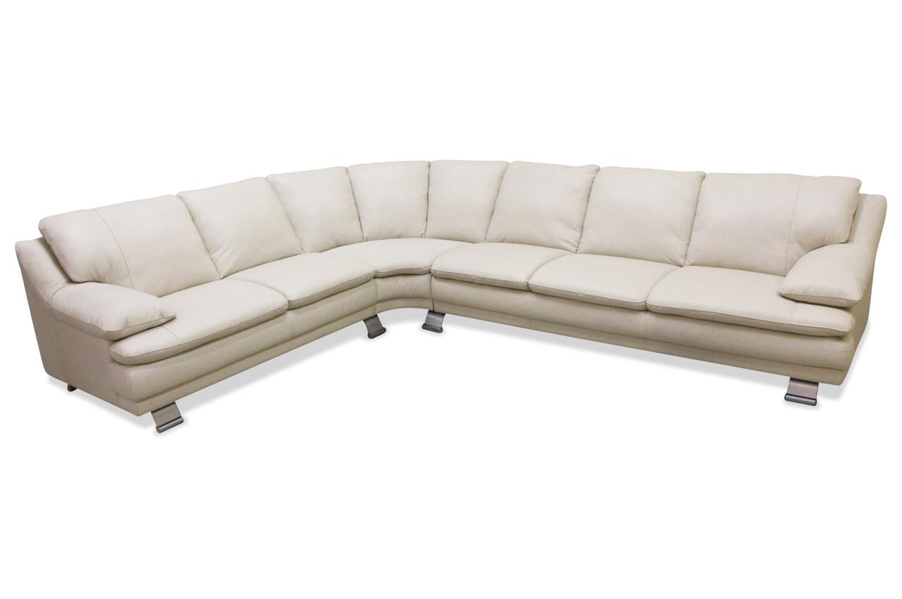 Editions Leder Rundecke B742 Creme Sofa Couch Ecksofa Ebay