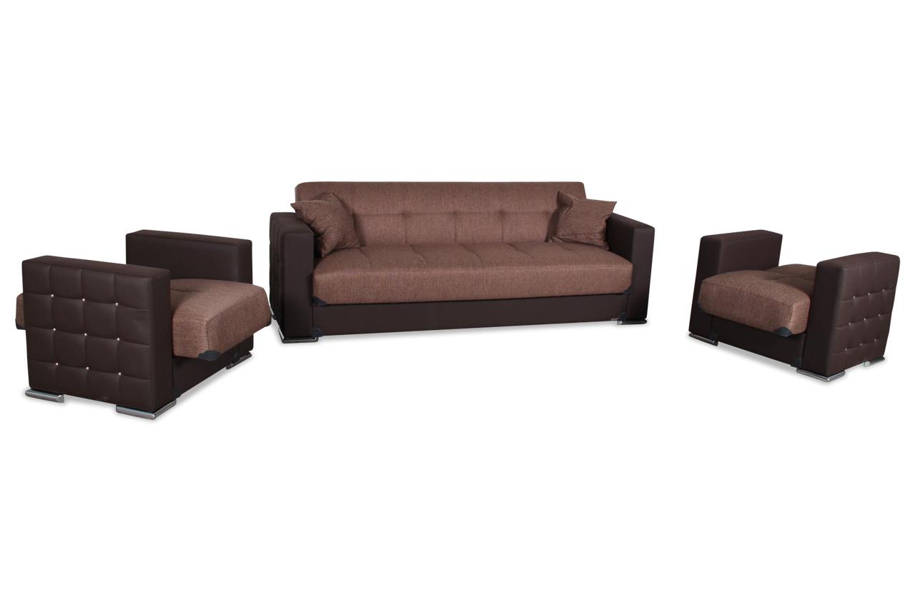 bader garnitur 3 1 1 borina mit relax und schlaffunktion braun sofas zum halben preis. Black Bedroom Furniture Sets. Home Design Ideas