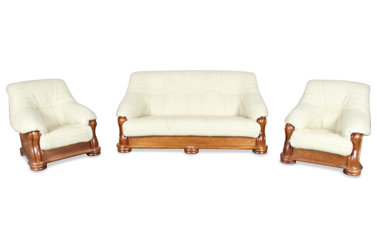 chojmex leder garnitur 3 1 1 bolero mit schlaffunktion. Black Bedroom Furniture Sets. Home Design Ideas