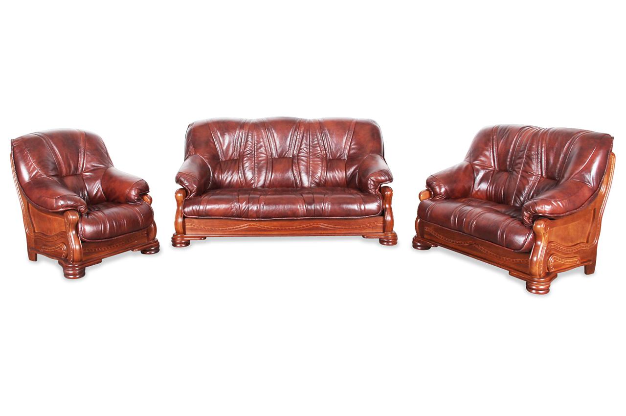 chojmex leder garnitur 3 2 1 omega braun sofas zum halben preis. Black Bedroom Furniture Sets. Home Design Ideas