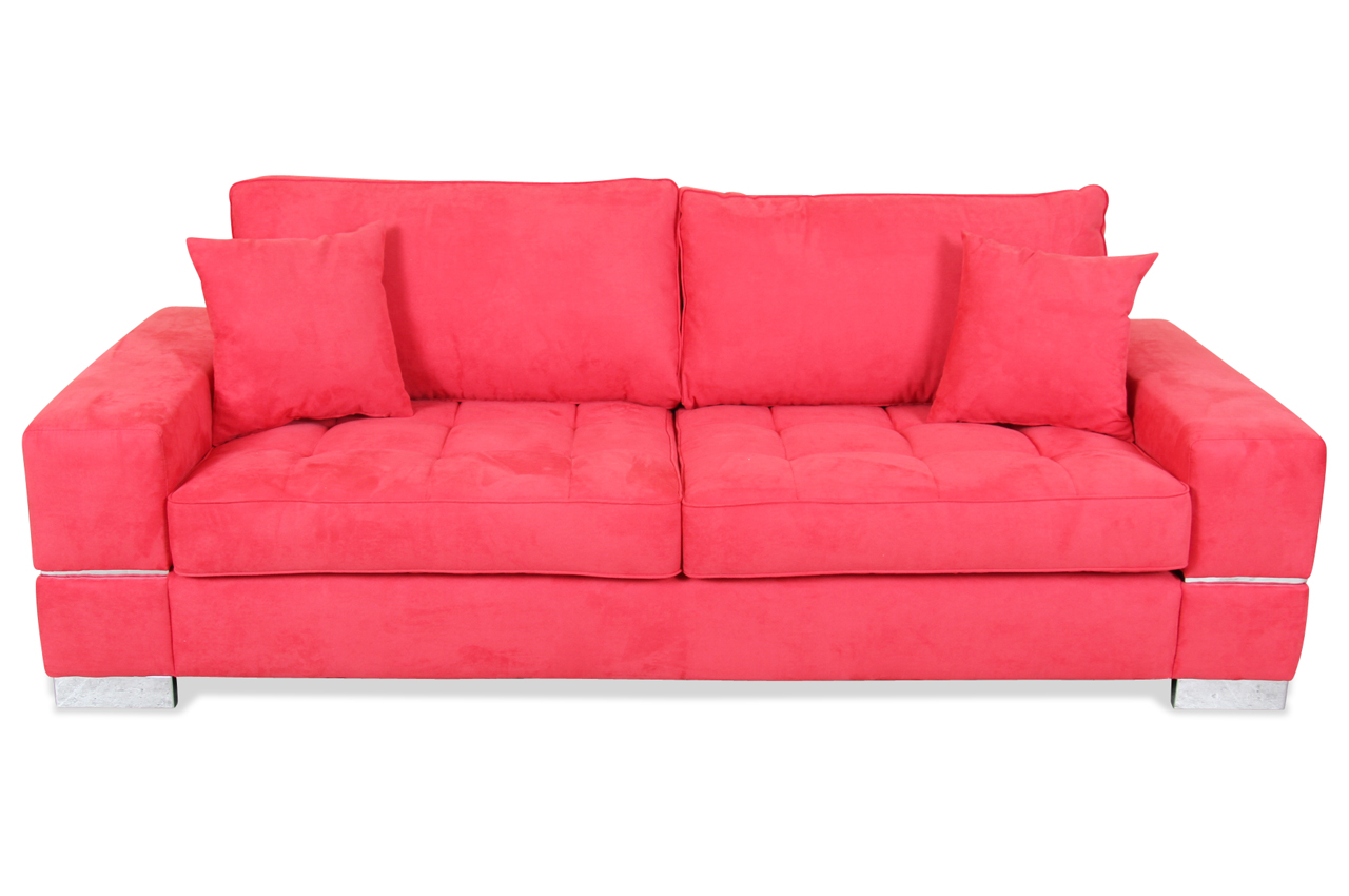 spin m bel 3er sofa calypso rot sofas zum halben preis. Black Bedroom Furniture Sets. Home Design Ideas