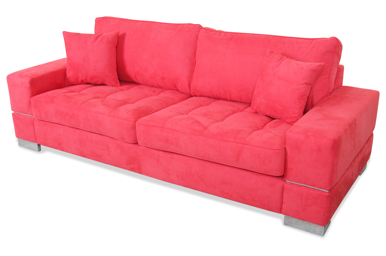 spin m bel 3er sofa calypso rot sofas zum halben preis. Black Bedroom Furniture Sets. Home Design Ideas