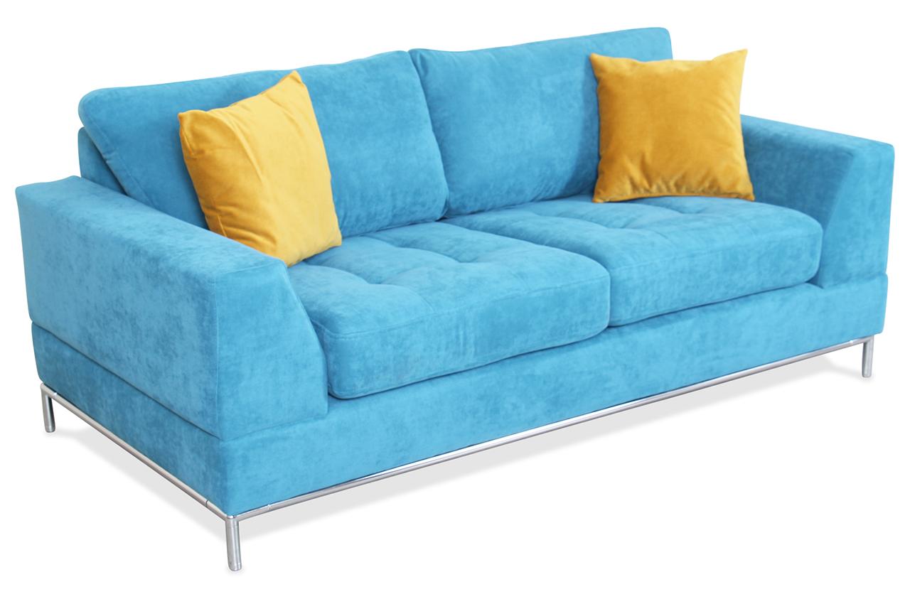 spin m bel 2er sofa garda blau sofas zum halben preis. Black Bedroom Furniture Sets. Home Design Ideas