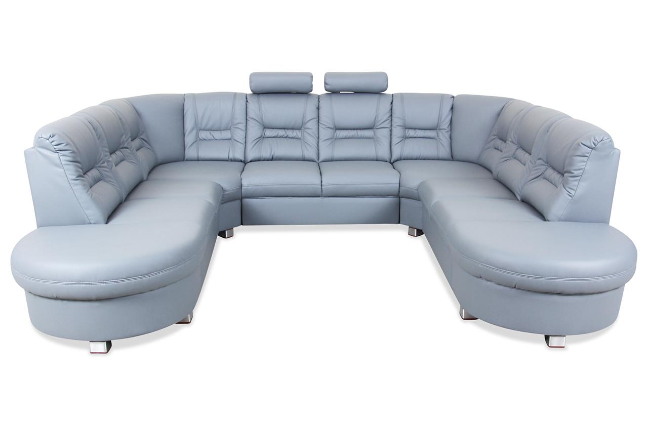 Wohnlandschaft vario grau sofas zum halben preis for Wohnlandschaft grau