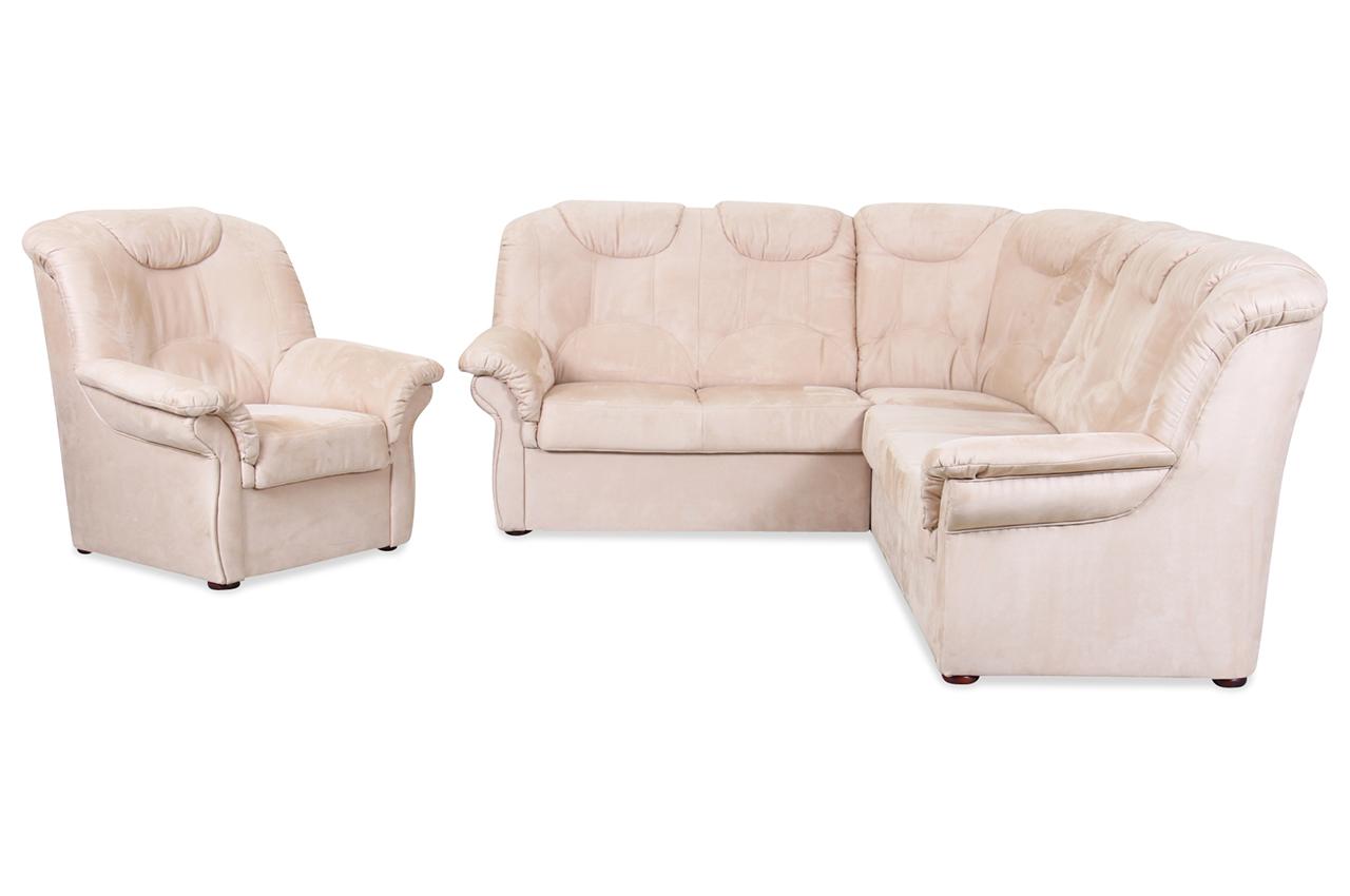Rundecke linus mit sessel creme sofas zum halben preis for Sessel creme