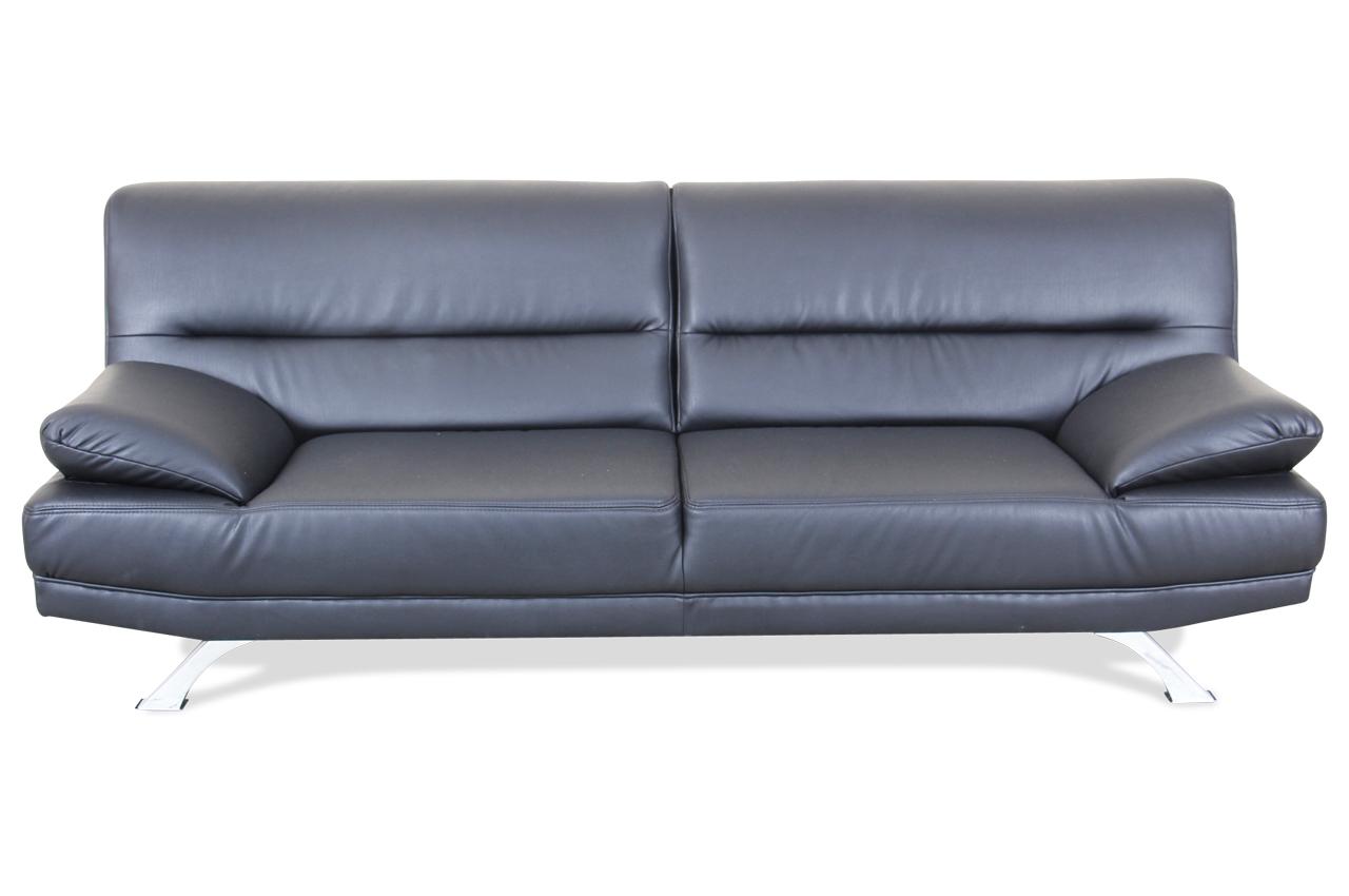 3er sofa bruno schwarz sofas zum halben preis. Black Bedroom Furniture Sets. Home Design Ideas