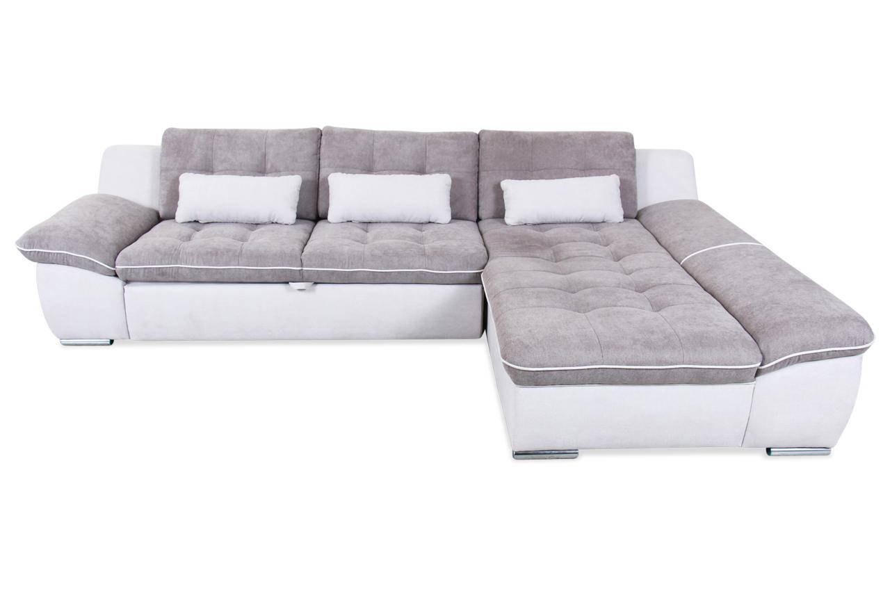 Ecksofa milo mit schlaffunktion grau sofas zum for Ecksofa mit schlaffunktion grau