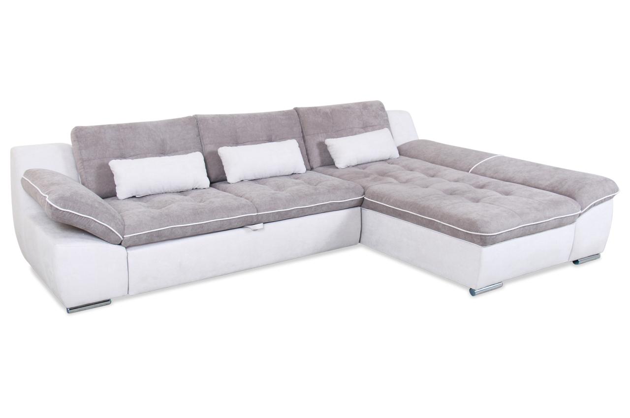 ecksofa milo mit schlaffunktion grau sofas zum halben preis. Black Bedroom Furniture Sets. Home Design Ideas