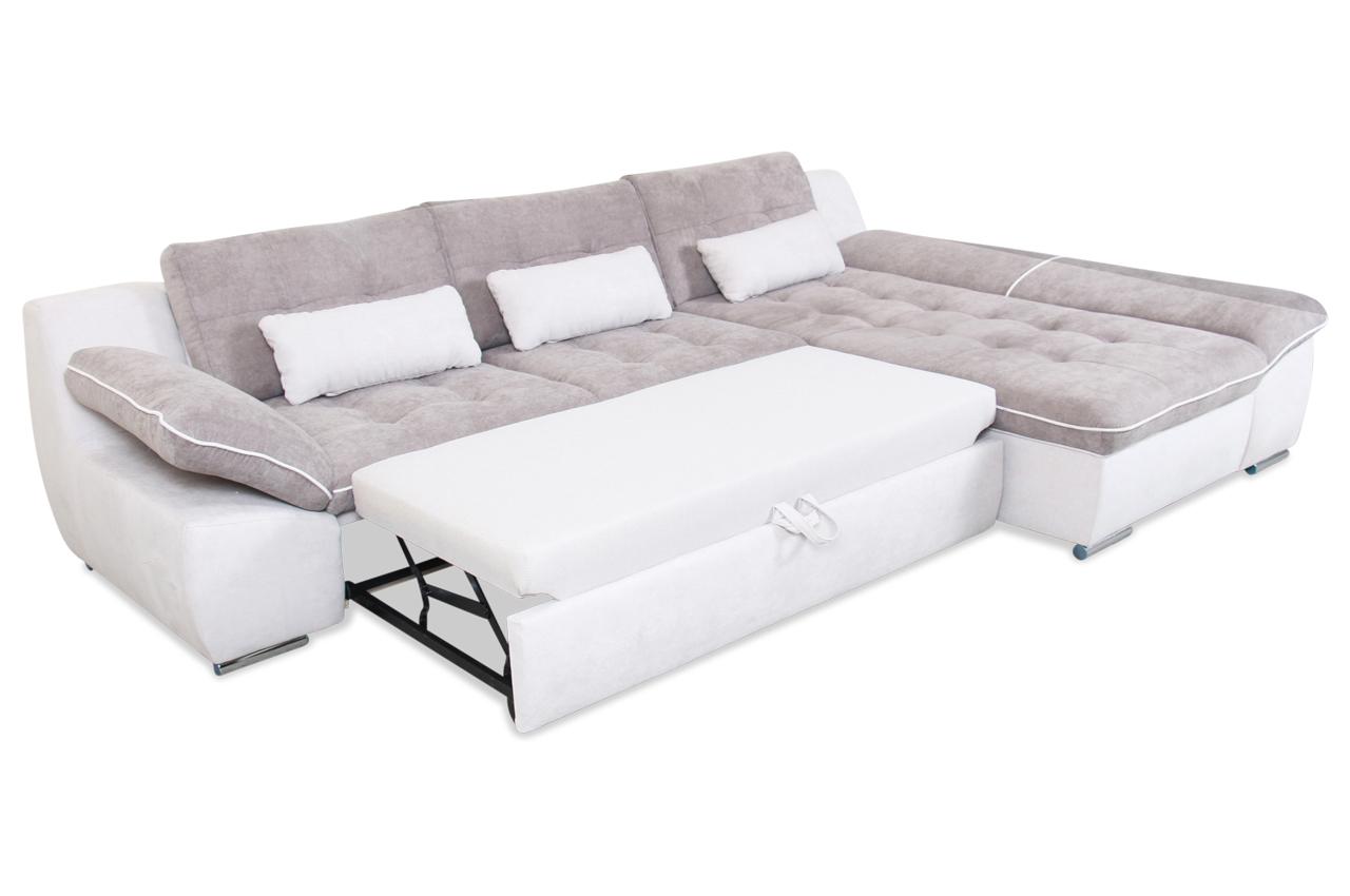 Ecksofa milo mit schlaffunktion grau sofas zum for Ecksofa grau mit schlaffunktion