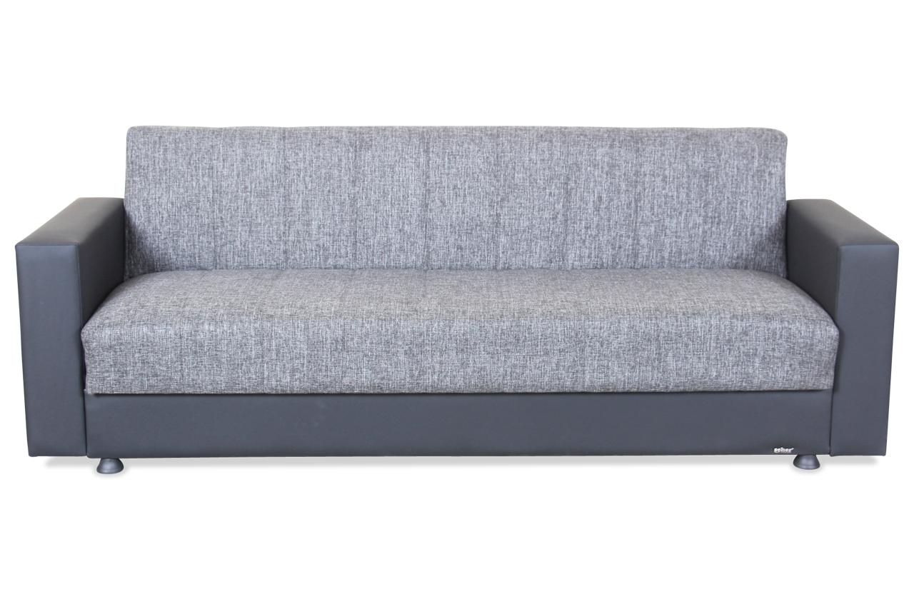 Seher 3er sofa nadine mit schlaffunktion schwarz sofas zum halben preis 3er sofa mit schlaffunktion