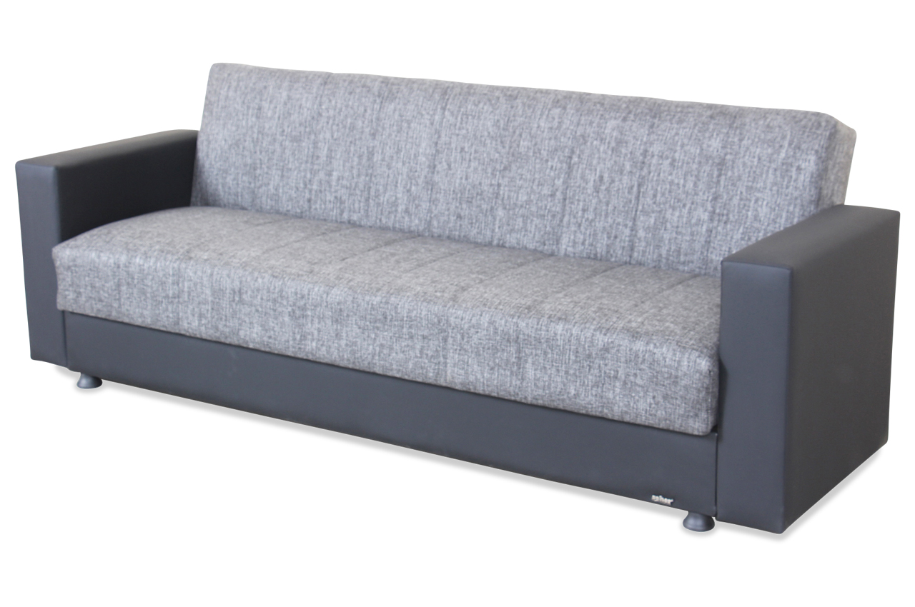 seher 3er sofa nadine mit schlaffunktion schwarz sofa couch ecksofa ebay. Black Bedroom Furniture Sets. Home Design Ideas