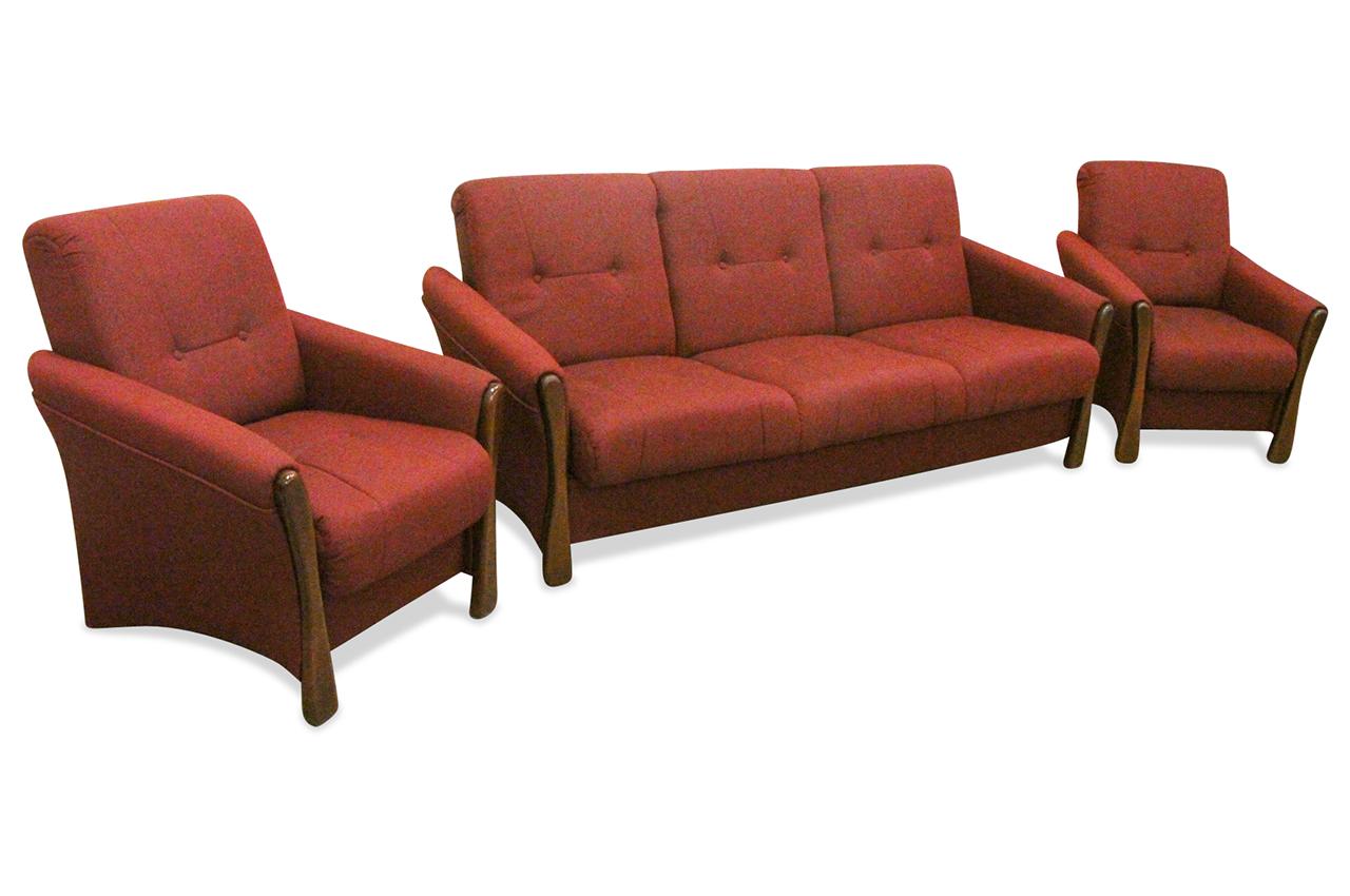 garnitur 3 1 1 luisa mit schlaffunktion rot sofas zum halben preis. Black Bedroom Furniture Sets. Home Design Ideas
