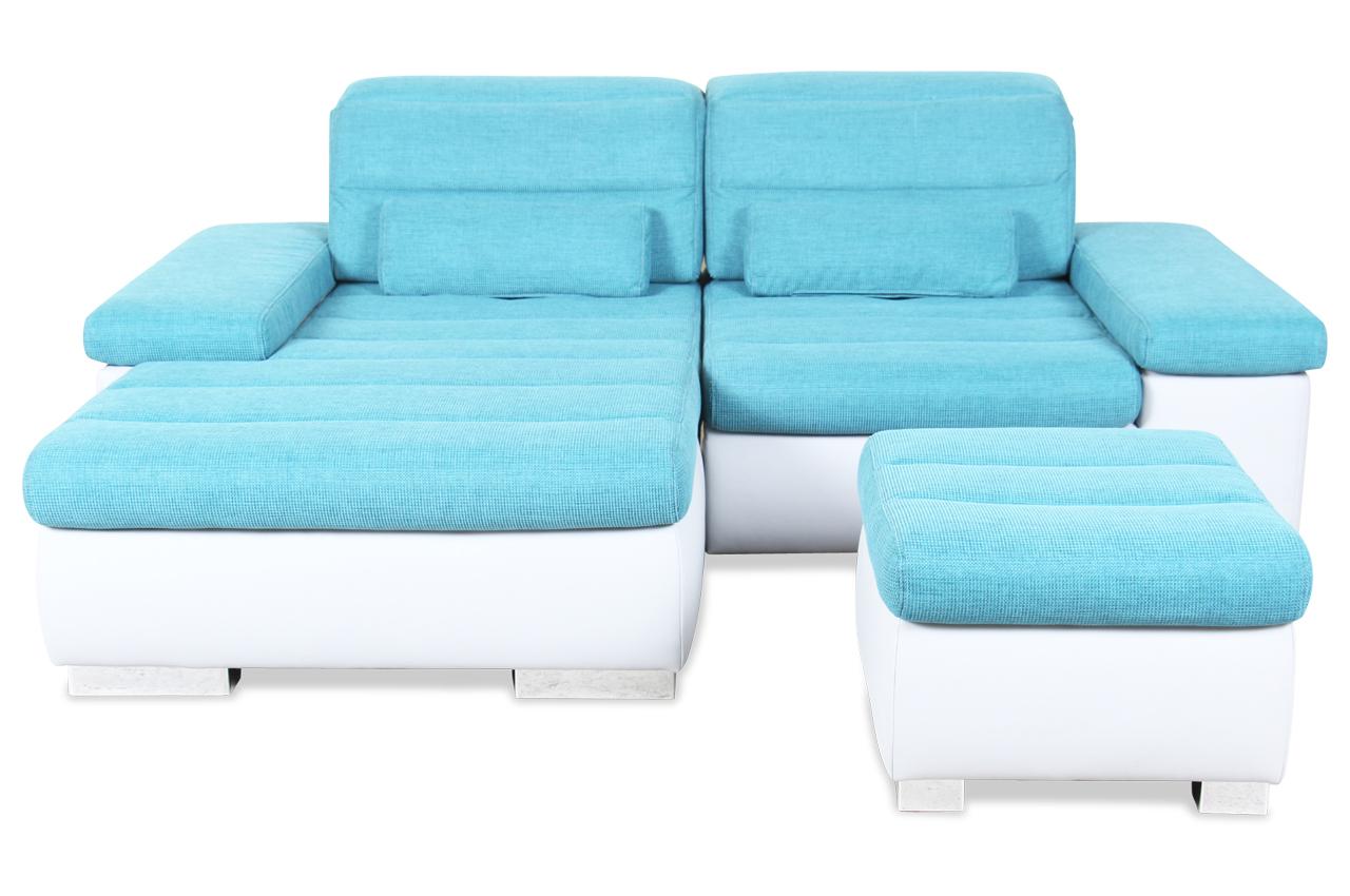 ecksofa mit hocker mit relax blau sofas zum halben preis. Black Bedroom Furniture Sets. Home Design Ideas