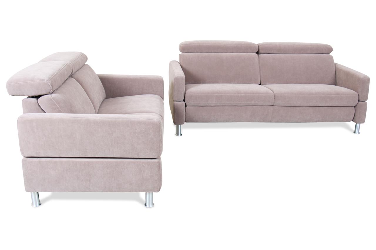 garnitur 3 2 braun sofas zum halben preis. Black Bedroom Furniture Sets. Home Design Ideas