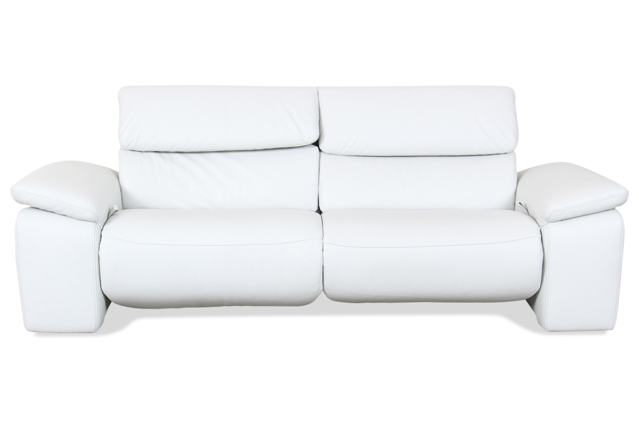 sale leder 3er sofa weiss mit federkern sofa couch ecksofa ebay. Black Bedroom Furniture Sets. Home Design Ideas
