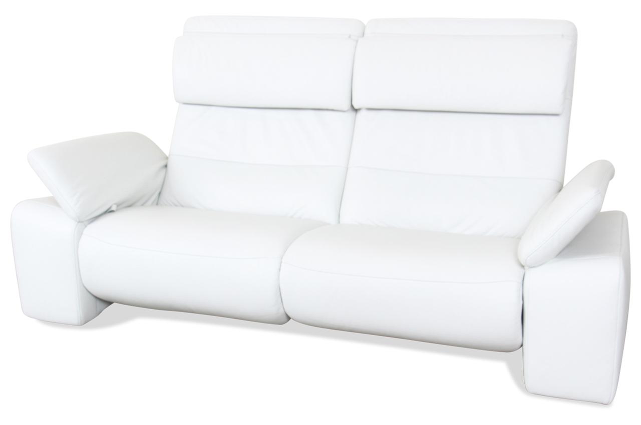 leder 3er sofa weiss mit federkern sofas zum halben preis. Black Bedroom Furniture Sets. Home Design Ideas