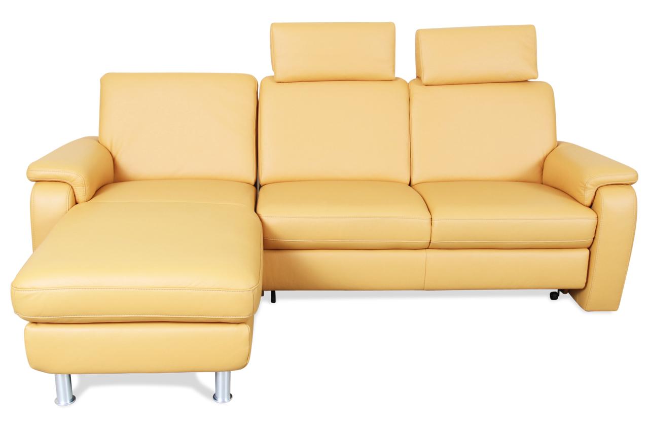 leder ecksofa mit schlaffunktion gelb sofa couch ecksofa ebay. Black Bedroom Furniture Sets. Home Design Ideas