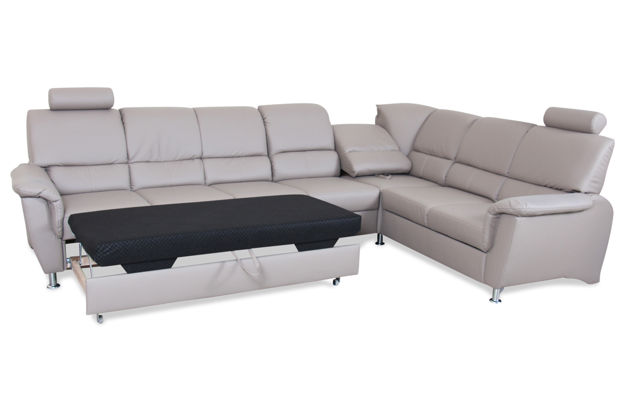 sofa team rundecke 173 mit schlaffunktion grau sofas zum halben preis. Black Bedroom Furniture Sets. Home Design Ideas