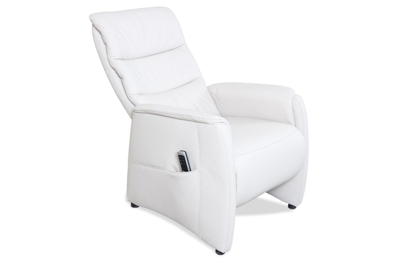 leder fernsehsessel mit relax weiss mit federkern. Black Bedroom Furniture Sets. Home Design Ideas