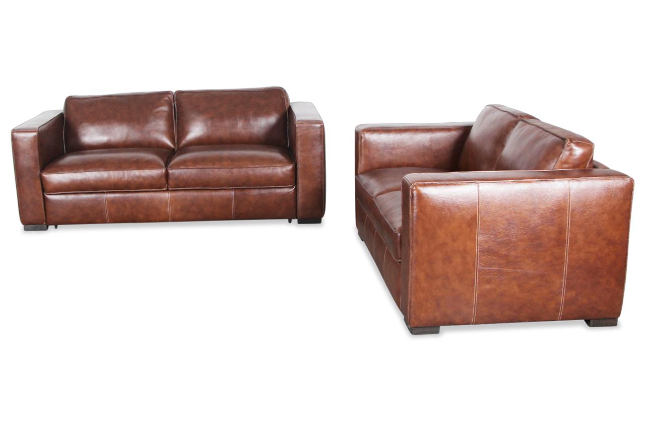 editions leder garnitur 3 2 u264 mit schlaffunktion braun mit federkern sofas zum halben preis. Black Bedroom Furniture Sets. Home Design Ideas