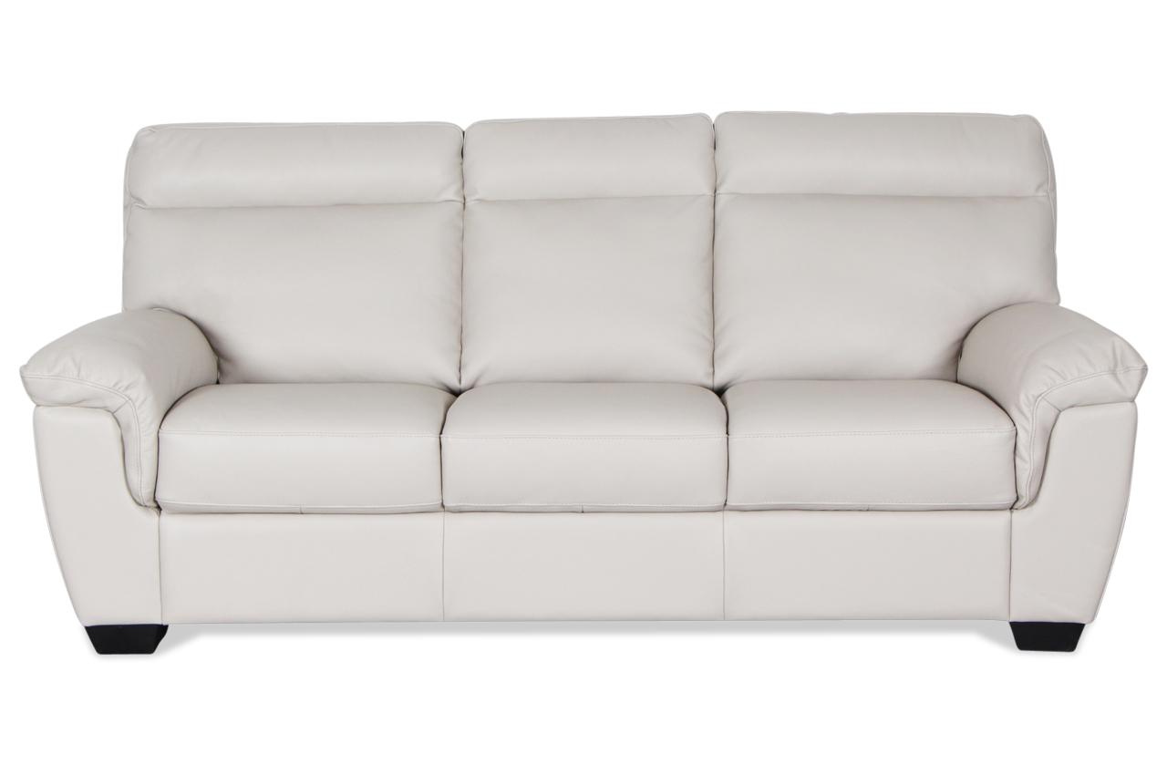 editions leder 3er sofa u222 creme mit federkern sofas. Black Bedroom Furniture Sets. Home Design Ideas